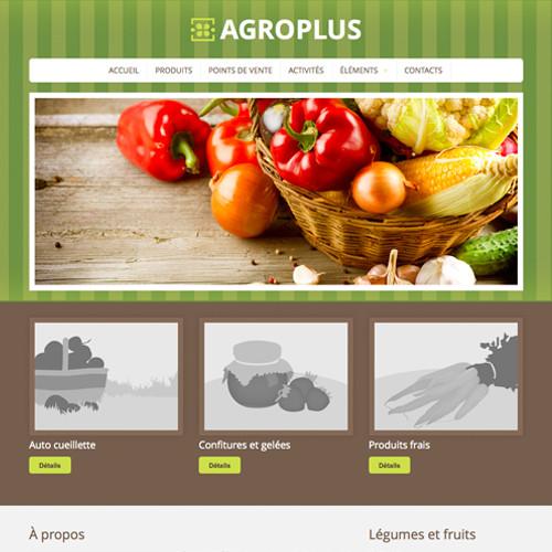 Modèle de site - AgroPlus