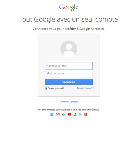google-adresse-login