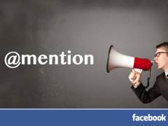 Fonction Mention sur Facebook