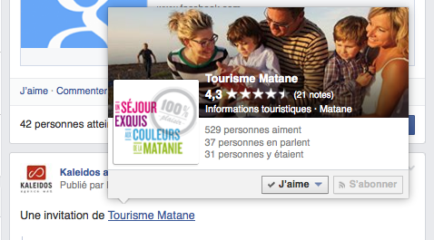 Citer une page Facebook