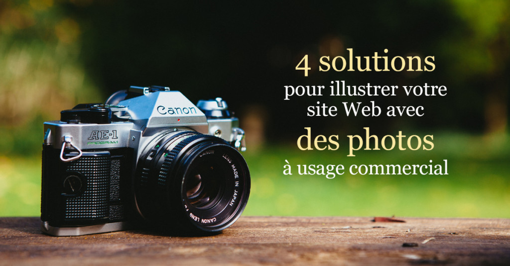 Solutions pour photos à usage commercial