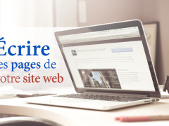 Écrire les pages de votre site Web