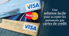 Une solution facile pour accepter les paiements par cartes de crédit