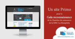 Un site Primo pour le Gala reconnaissance de la Chambre de commerce de la MRC La Matapédia