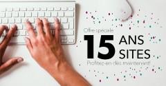 Profitez de notre promotion : 15 ans, 15 sites Web!