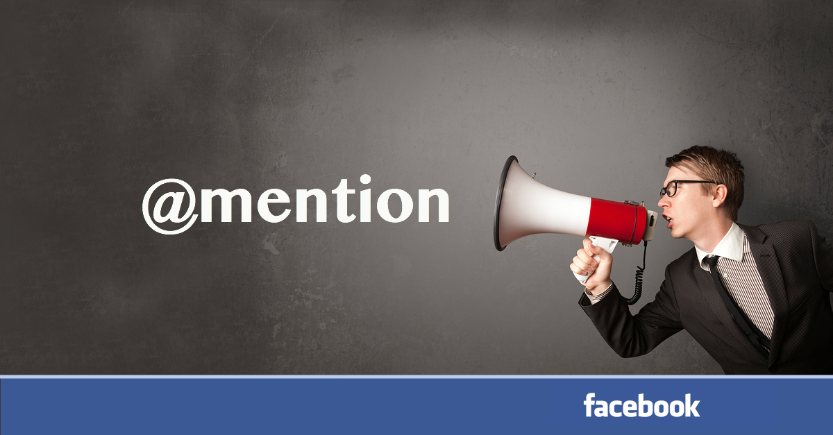 Fonction Mention sur Facebook